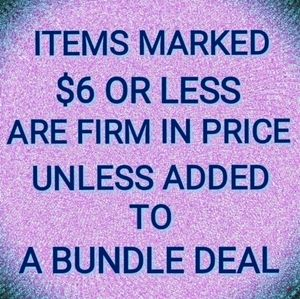 Other - Firm Price On Items $6 Or Less